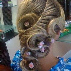 Peinados Wedding Hairstyle, Updo Hairstyle, Braided Hairstyles For Wedding, Party Hairstyle, Wedding Hairdos, Gorgeous Hairstyles, Beautiful Haircuts, Creative Hairstyles, Unique Hairstyles