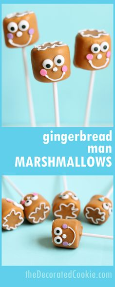 gingerbread man marshmallows -- a cute and easy Christmas treat