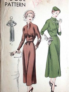 Vogue Dress Pattern No 6564 Vintage 1940s Non by CaliforniaSunset, $15.00