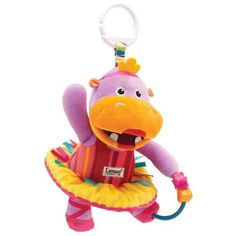 Lamaze Play & Grow Lulu in a Tutu Take Along Toy by TOMY. $11.40. From the Manufacturer                Full of developmental features that stimulate baby's senses, this fantastical Hippo includes a textured tummy, a crinkle tutu, colorful busy beads and a fun rattle. Baby will love Lulu's colorful ribbons, multiple patterns and soft body. Whether in the stroller, crib or performing on stage, Lulu is always at home with her signature Lamaze link.                                ...