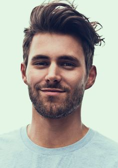 Men's Fashion: is this will work out? but without beard is better, lol #hairstyle