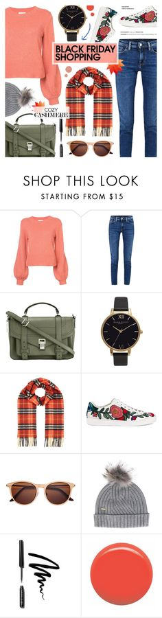 """""""Black Friday - Cozy Fall Style"""" by anyasdesigns ❤ liked on Polyvore featuring Chloé, Acne Studios, Proenza Schouler, Olivia Burton, Burberry, Gucci, Woolrich, Bobbi Brown Cosmetics, JINsoon and Pat McGrath"""