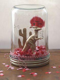 Valentine's Day snow globe. Too cute.