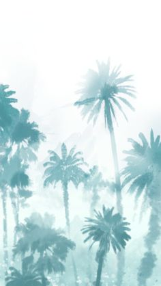 #Palmtree / Download more #Watercolor #iPhone #Wallpapers and #Backgrounds at @prettywallpaper