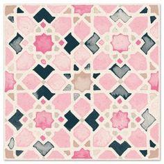Moorish Tile No.2 in Rosa
