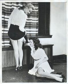 now there's a cheap way of wearing stockings!