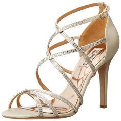 Badgley Mischka Women's Meghan Dress Sandal => Check out this great image  : Block heel sandals