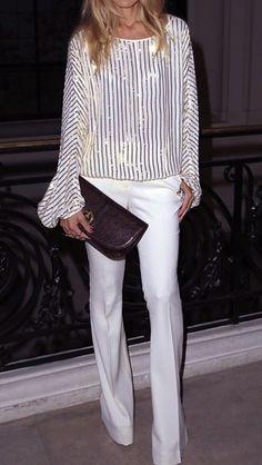 Rachel Zoe - white in the spring/summer Estilo Fashion, Fashion Mode, Look Fashion, Womens Fashion, Fashion Trends, Paris Fashion, Girl Fashion, Fashion Design, Rachel Zoe