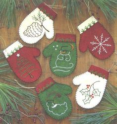 Dimensions: 4.25 inches tall Materials: Wool, felt Kit includes: Woolfelt embroidery floss, star buttons and beads, gold srting and iron transfers Suitable for trimming the tree and gift giving Quanti