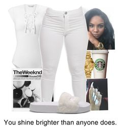 """""""white"""" by bow-girl531 ❤ liked on Polyvore featuring Miss Selfridge, Versus and Puma"""