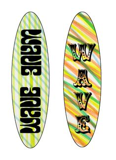 2nd wave surfboard designs using pen markings