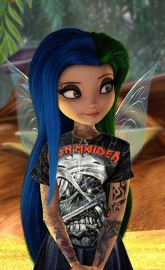 Disney punk edit, love it! Tiana Disney, Disney Fairies, Disney Art, Emo Disney Characters, Punk Disney Princesses, Disney Villains, Disney Punk Edits, Tinkerbell Characters, Face Characters