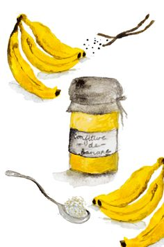 Here's to the treats and meals that taste of home Family Recipes, Family Meals, Magazine Illustration, Taste Of Home, Nom Nom, Vanilla, Banana, Jar, Illustrations