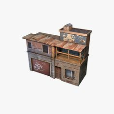 house geto modular low poly 3d model low-poly max obj 13