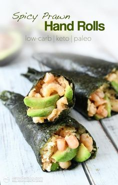 I'd probably make these like normal sushi rolls. I don't crave sushi often, but this would be a good lunch for school.