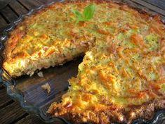 Helppo savulohipiirakka - testaa reseptiä! Lasagna, Quiche, Bakery, Rolls, Food And Drink, Pizza, Keto, Favorite Recipes, Breakfast