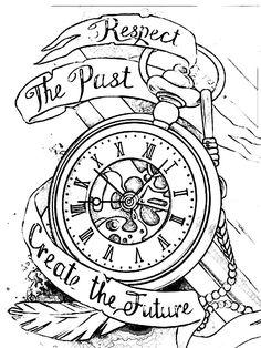 23 Trendy Tattoo Compass Shoulder Pocket Watches – Watch for everyone Pocket Watch Tattoos, Pocket Watch Drawing, Pocket Watch Tattoo Design, Clock Tattoo Design, Tattoo Design Drawings, Best Sleeve Tattoos, Tattoo Sleeve Designs, Tattoo Designs Men, Time Tattoos