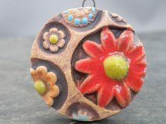 Rustic Flora handmade rustic ceramic flower by SlateStudiosSupply, $12.50