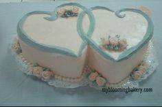 Double Heart Cake My Blooming Bakery - Cakes