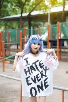 Cute pastel goth girl! I would personally wear this shirt everyday if I could!!!
