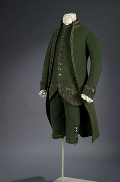 Formal suit, 1770's England, Royal Ontario Museum