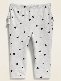 Shop Old Navy's Printed Ruffle-Trim Leggings for Baby : Elasticized waistband., Tiered ruffles at back., All-over pattern varies by color. Baby Girl Pants, Baby Girl Shoes, Essentiels Mode, Patriotic Outfit, Mens Travel Bag, Shop Old Navy, Cute Girl Outfits, Girls Leggings, Toddler Fashion