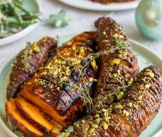 Vegan Maple-roasted Hasselback Sweet Potatoes and Butternut New Recipes, Vegan Recipes, Baking Recipes, Oven Roasted Sweet Potatoes, Sweet Potato Dishes, Healthy Vegetable Recipes, Pudding Recipes, Vegan Dishes, Light Recipes
