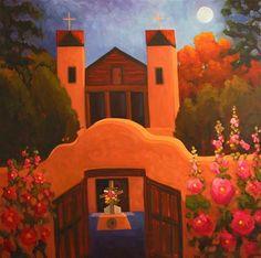 """""""El Santuario de Chimayo"""" - Original Fine Art for Sale - © Dee Sanchez"""
