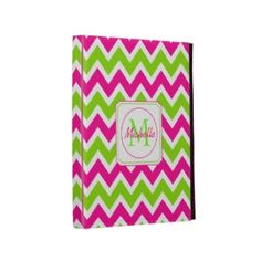 Pink and Lime Zigzag Caseable iPad Case