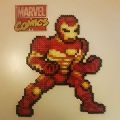 Iron Man perler beads by parldags