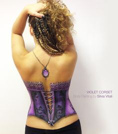 VIOLET CORSET Body Painting by Silvia Vitali