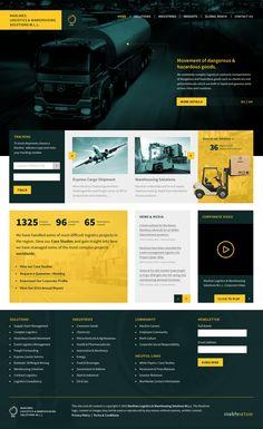 Maxlines Logistics & Warehousing - Web & UI/UX Design on Behance