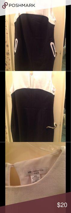 Liz Claiborne black & white shift dress size 16 Color block black and white shift with front slant pockets Liz Claiborne Dresses
