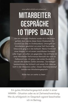 Ein gutes Mitarbeitergespräch endet in einer WINWIN – Situation oder es ist Zei… A good employee interview ends in a WINWIN situation or it is a waste of time. How do you act successfully in conversation I describe in the post. Lerntyp Test, Win Win Situation, Good Employee, Motivational Images, Team Coaching, Employer Branding, Best Careers, Life Rules, Teamwork