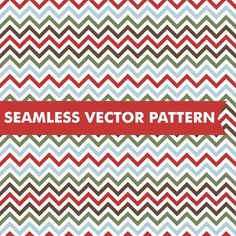Christmas Chevron Seamless Vector. Christmas Patterns. $5.00
