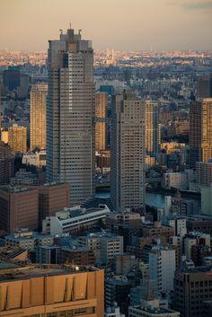 St.Luke's Garden (聖路加ガーデン). / Architect : Nikken Sekkei and Tokyu Architects & Engineers Inc. (設計:日建設計、東急設計コンサルタント).