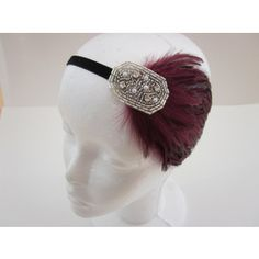 1920s Headpiece Gatsby Headpiece Feather Headband Gatsby Dress Headband 1920s Hair Accessories W