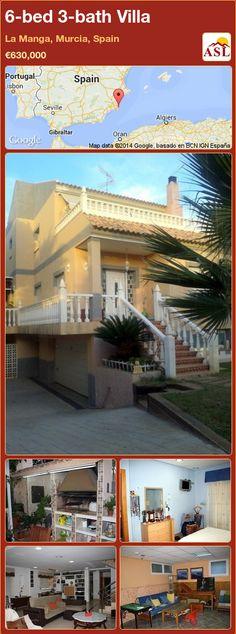 6-bed 3-bath Villa in La Manga, Murcia, Spain ►€630,000 #PropertyForSaleInSpain