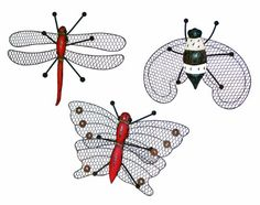 Melrose Wire Insect Wall Art 12Inch Wide Set of 3 ** See this great product. (This is an affiliate link)