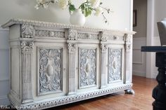 Imported from France  Antique French Brittany Style Ornately