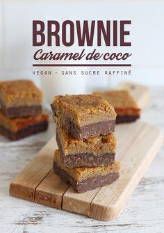 Brownie au caramel de coco vegan - Mango & Salt