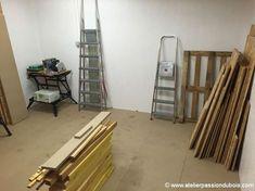 construction atelier bois part10. Construction d'un atelier en ossature bois. Partie 10: Finitions et aménagement. Ajout d'un plancher isolé