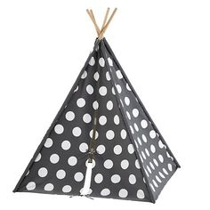 A Teepee to Call Your Own (Black Stripe) in All Little Kid Gifts | The Land of Nod