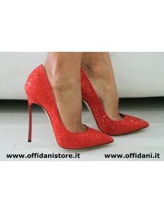 Casadei Red Decolleté Gltter!!! Favolose <3