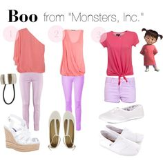 """Lookbook inspired in """"Boo from Monsters Inc."""" by bforbel on Polyvore"""