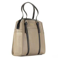 Drapp Nobo női táska fekete részekkel. Záródása cipzárral történik b2536aeb3d
