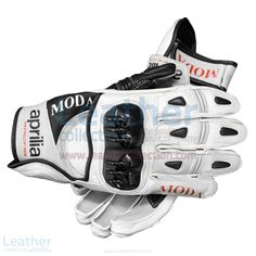 Aprilia Short Leather Riding Gloves Main Features, Full-grain leather construction, Rubber protector with air intakes and exhaust  Regular Price = $250.00 U$ Special Price  = $187.50 U$ (Offer Valid till 31 December 2016)  BUY NOW https://www.leathercollection.com/en-we/aprilia-short-leather-riding-gloves.html