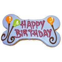 "Pawsitively Gourmet 6"""" Happy Birthday Bone Gift Box Cookie"