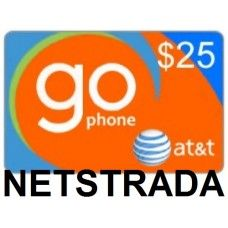 AT&T Go Phone $25 Prepaid Pay as you Go Top-Up Refill Reload Card PIN Load Service