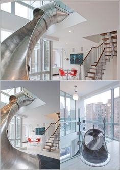 An NYC Home with a Steel Slide by Turett Collaborative Architects ...